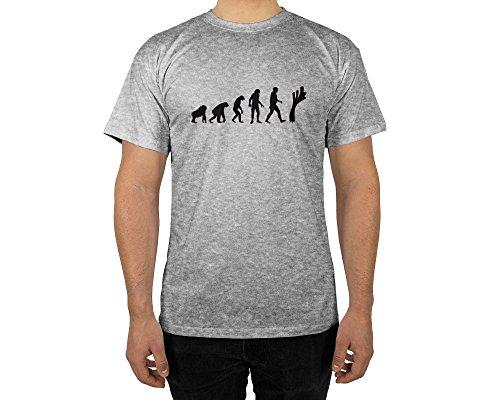 licaso Männer T-Shirt mit Aufdruck in Grau Gr. M Lauch Evolution Gang Design Boy Top Jungs Shirt Herren Basic 100% Baumwolle Kurzarm