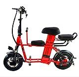 Creing Elektrischer Roller E-Scooter Faltbarer Power Scooter Mit Sitz Elektroroller StraßEnzulassung Cityroller 30Km/h,red