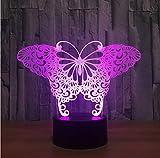 Preciosa Mariposa Acylic 3D Lámpara 7 Color Atenuación Táctil Rc Led Luz De La Mesa Para Niños Regalo De Navidad