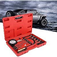 Aramox Sincronizzatore del Vuoto del Carburante misuratori del sincronizzatore del carburatore del Vuoto del Carburante Set di 4 cilindri Bilanciatore Strumento Antiurto per Auto Moto