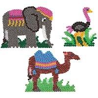 Elefant Giraffe Affe Strauß Löwe Bügelperlen 7 Stiftplatten Safari midi Hama