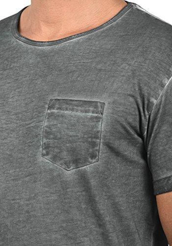 !Solid Terick Herren Longliner Oversize Shirt T-Shirt Kurzarm mit Rundhals-Ausschnitt Aus 100% Baumwolle Dark Grey (2890)