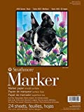 Strathmore Marker-Zeichenblock, 22,9 x 30,5 Glatt, Acryl, Mehrfarbig, Nr. 50