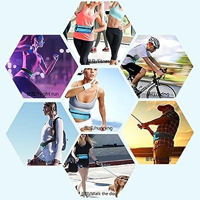 Bigood Sac Banane de Sport Pochette pour Téléphone Portable Ceinture Réglable Porte-monnaie Vélo Escalade Etanche