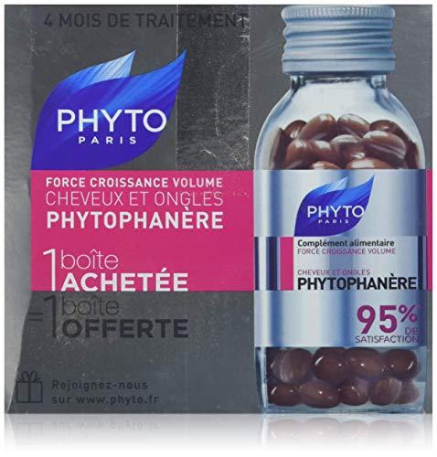 Phyto PHYTOPHANÈRE Nahrungsergänzung Haarausfall bei Frauen & brüchige Fingernägel - 2 X 120 Kaps
