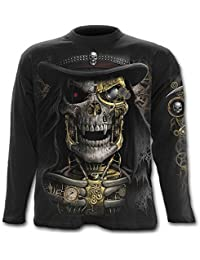 Spiral Steam Punk Reaper Langarm Shirt, schwarz