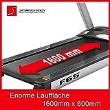 Sportstech F65 Profi Laufband mit 7 Zoll Display 8.5 PS 25 km/h extra große 1600x600mm Lauffläche HRC Funktion 109 Programme - 4