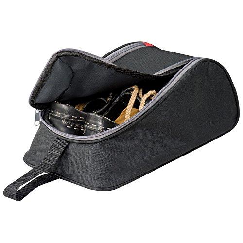 Lasermax - borsa portascarpe in poliestere 600 d, con inserto in metallo per aerazione, colore: nero