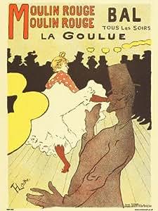 Art nouveau Poster Art Print by Henri de toulouse - Lautrec Moulin Rouge PDP 030