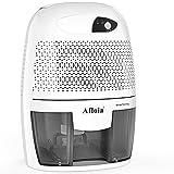 Afloia Deumidificatore intelligente 500ml deumidificatore piccolo dispositivo di rimozione umidità per casa, camera da letto, cantina, cucina, armadio (grigio)