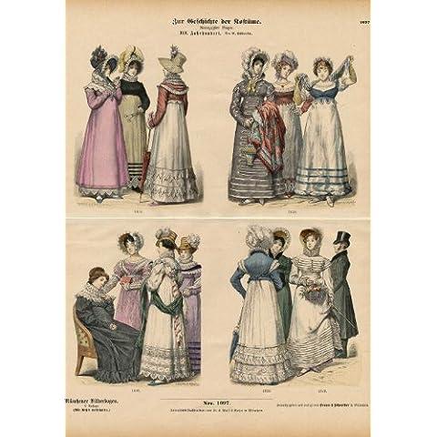 theprintscollector antico costume print-womens dress-19th c-braun-1880