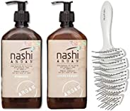 Nashi Argan Shampoo and conditioner size 500ml with free olplex brush