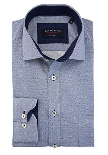 CASAMODA Herren Freizeithemd Blau (Blau 101)