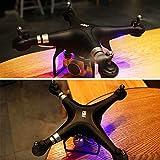 Jiayuane SH5 RC Quadcopter avec WIFI Caméra Réelle Transmission, Drone avec Moteur Brushless Headless Mode Roulement 3D Une Clé pour Décoller / Atterrir Cool Lights Drone Conçu pour le Funning