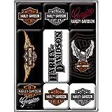 Nostalgic-Art 83036 Harley-Davidson - Logos, Magnet-Set (9teilig)