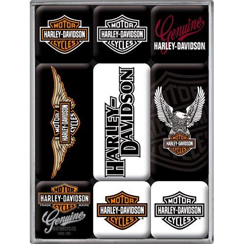 harley-davidson-logo-magnet-set