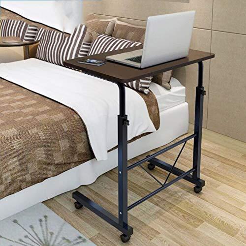 tertisch Höhe Verstellbar,nachttisch Mit Rädern,Laptop-Tisch Bücherregal Schreibtisch Warenkorb Über Bett Krankenhaus-c 60x40cm(24x16inch) ()