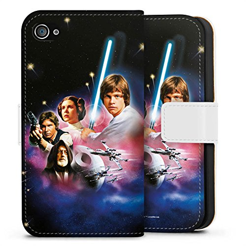 Apple iPhone X Silikon Hülle Case Schutzhülle Star Wars Merchandise Fanartikel A new hope Sideflip Tasche weiß
