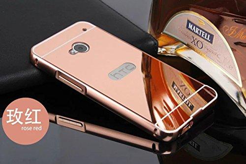 panxyue-coque-htc-one-m7-aluminium-miroir-coloris-rose-etui-housse-bumper