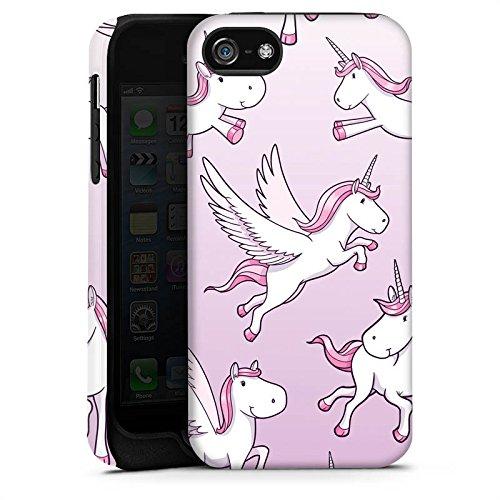 Apple iPhone X Silikon Hülle Case Schutzhülle Einhorn Unicorn Pferde Girls Tough Case matt