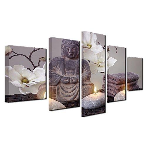 �lgemälde Wandkunst Print Bild, religiöse Buddha Bild Hintergrund für Wohnzimmer oder Büro High Definition Moderne Dekoration,4 ()