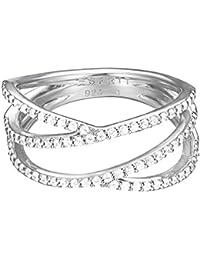 Esprit Damen-Ring 925 Sterling Silber Zirkonia brilliance weiß