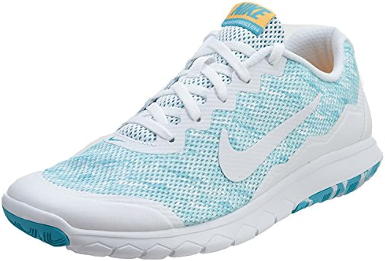 Nike Women'S Flex Experience RN 4 Premium Running Shoe, Gamma Blue/White/Lsr Orng/White, 38 B(M) EU/4.5 B(M) UK