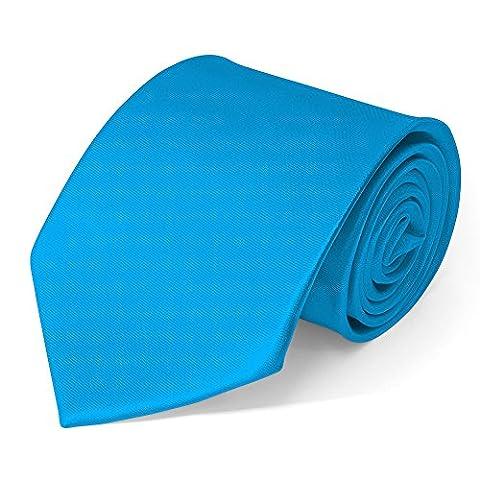 Klassische Krawatte inkl. Anleitung breit viele Farben Satin Schlips Herren, Farbe:hellblau