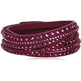 Swarovski Damen-Armband Slake Deluxe Fuchsia Stoff Glas pink - 5124127