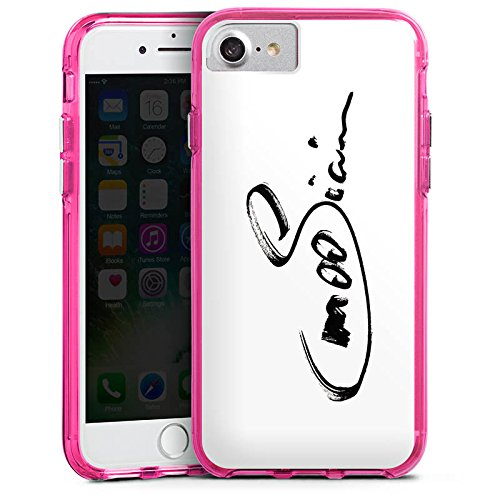 Apple iPhone X Silikon Hülle Case Schutzhülle M00sician Fanartikel Merchandise Unterschrift Bumper Case transparent pink