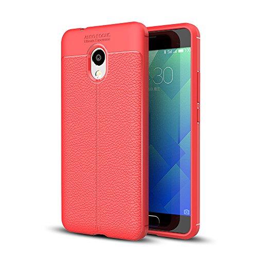 Custodia Meizu M5S, WolinTek TPU Gel Cover, Ultra Slim Skin Protettiva in Silicone Case per Meizu M5S, Rosso
