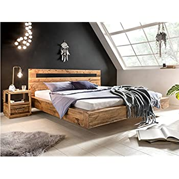 Woodkings Holz Bett 180x200 Marton Doppelbett Recycelte Pinie