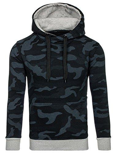 ... BOLF Herren Pullover mit Kapuze Sweatshirt Langarmshirt Sweatjacke  Militär Army Camo Muster 1A1 Schwarz AK37 ... bd31ec7f98