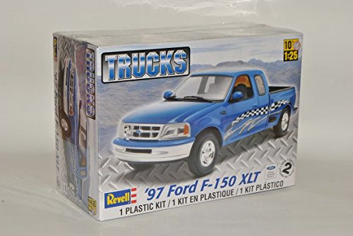 Ford F-150 XLT Pick-Up 1997 Blau 85-7215 Bausatz Kit 1/25 1/24 Revell Monogram Modell Auto