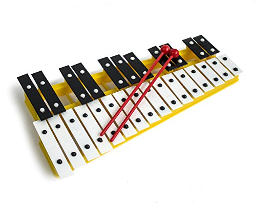 ProKussion yell27 V 27-Key Chromatic-Glockenspiel xilofono, colore: giallo