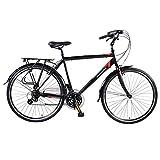 Muddyfox Mens Voyager 200 Bicycle Cycle Bike Velocipede 21 Speed Gears Black 700Wh/19Fr