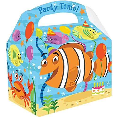 NANA'S PARTY Ocean Buddies Geburtstagsparty, Partygeschirr, Luftballons, Dekoration, Supplies/Meer 10 X Food Boxes (Am9900100)