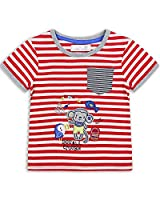 The Essential One - Boys Kids T-Shirt - Maxie Monkey - 4-5 Yrs - Red/White - EOT226