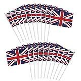 England Fanfahnen Schwenkfahnen Handliche Stabfahne Stabflagge 14cm*20cm 20 Stück Flagge Fahne für Fußball Weltmeisterschaft 2018 WM Party Sportveranstaltungen