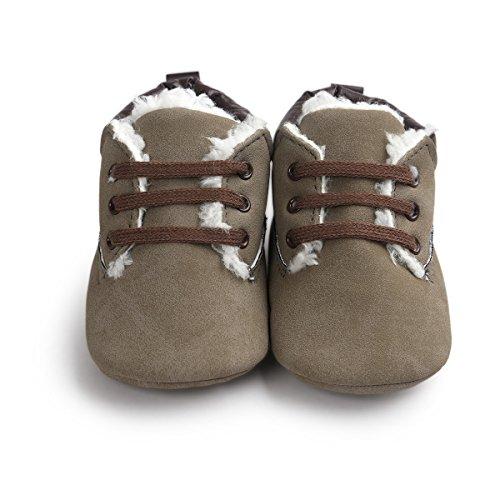 Yinew Unisex Baby Martin Schuhe Plus Samt Kaschmir Herbst und Winter Modelle Herbst und Winter Warm Baby Soft Lernen Schuhe
