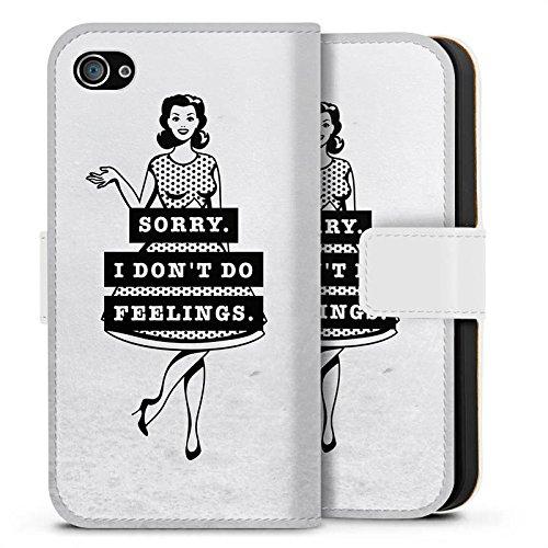 Apple iPhone X Silikon Hülle Case Schutzhülle Sprüche Liebe Mädchen Sideflip Tasche weiß