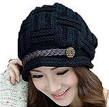 #10: Krystle Imported Autumn Winter Cap Hat Beanie For Women (Black)