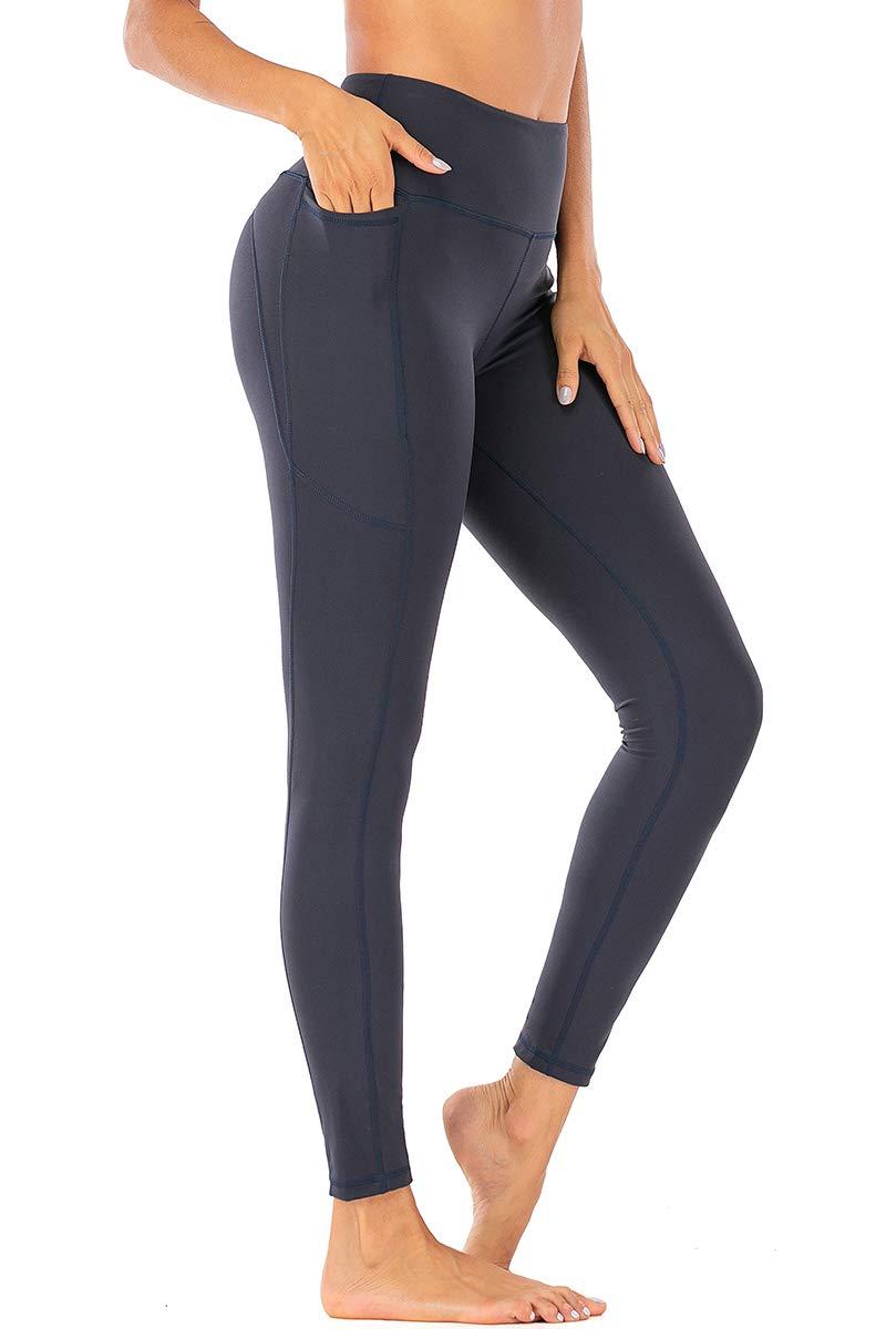 Damen Yoga Fitness Hohe Taille Hosen Trouser Leggings Jogging Gym Stretch Sport