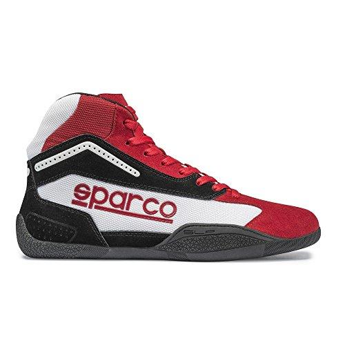 Sparco 00125940RSBI Botines para Karting, Rojo/Blanco, 40