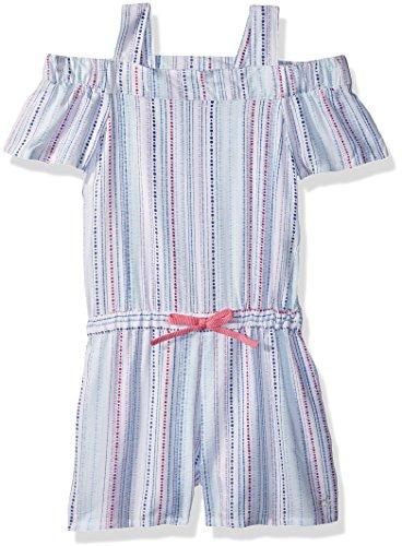 Calvin Klein Girl's Cold Shoulder Romper Casual Dress