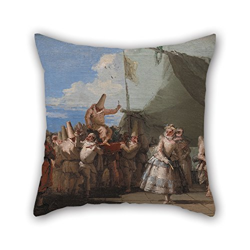Loveloveu Pillowcase/Kissenbezüge Of Oil Painting Giovanni Domenico Tiepolo - The Triumph Of Pulcinella,for Monther,outdoor,lounge,boys,home Office,chair 18 X 18 Inches / 45 By 45 Cm(twin Sides) (Silver Pony-shirt)