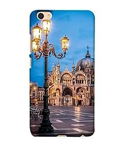 PrintVisa Designer Back Case Cover for Vivo Y55L (street lights monuments background view)