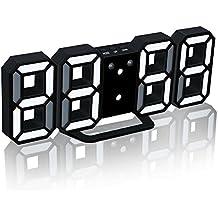 zreal despertador digital 3d con carga USB LED Snooze Dimmable relojes de escritorio para estar.