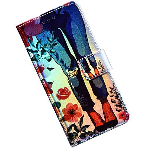 Felfy Cover Compatibile con Samsung Galaxy S5/S5 Neo Custodia Portafoglio Pelle,Blu Bling Brillantini 3D Painted Jeans Pattern Creative Design Flip Wallet PU Card Slot Stand Magnetico Case