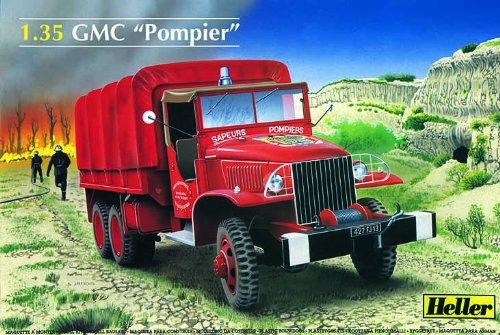 heller-81119-construction-et-maquettes-gmc-pompier-echelle-1-35me